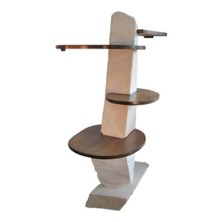 1980s Organic Modern Tall Etagere For Sale