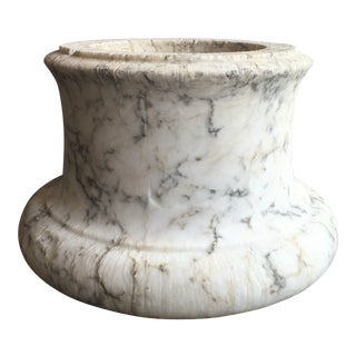 Antique Italian Marble Column Capital For Sale
