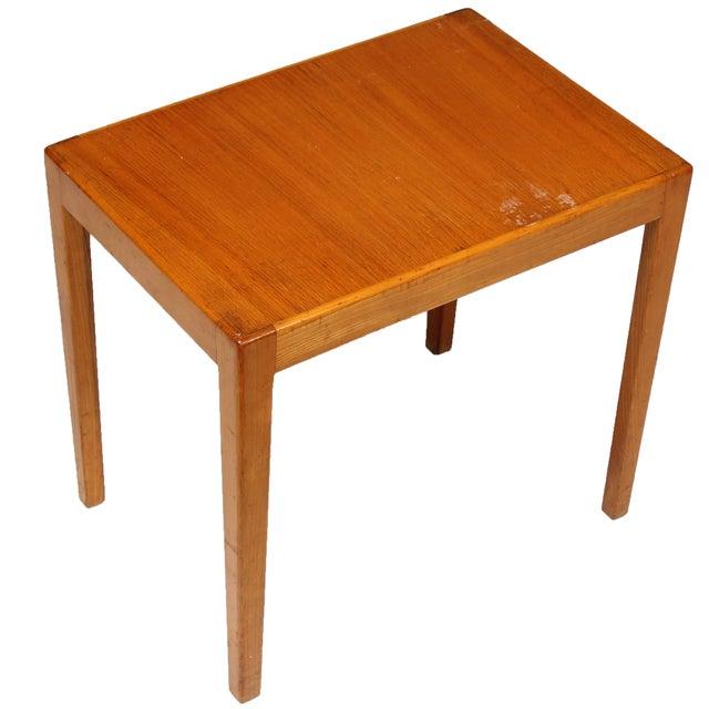1970s Danish Elm Side Table - Image 1 of 3