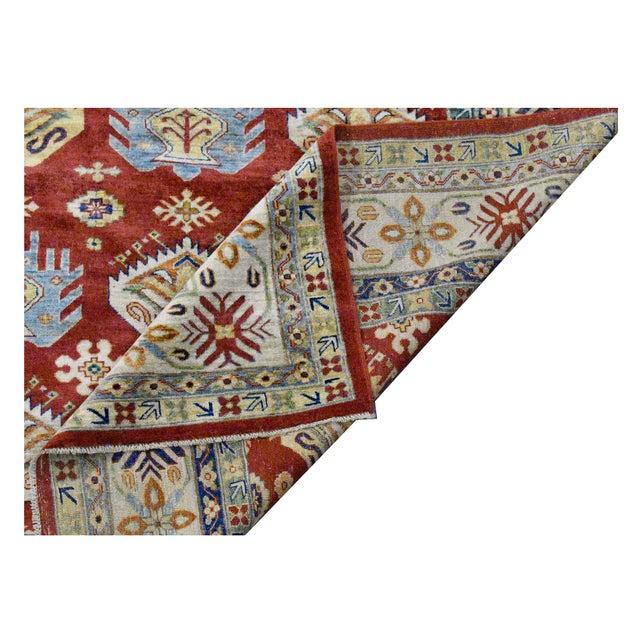 Afghan Kazak Wool Rug - 9'2''x11'9'' - Image 3 of 4
