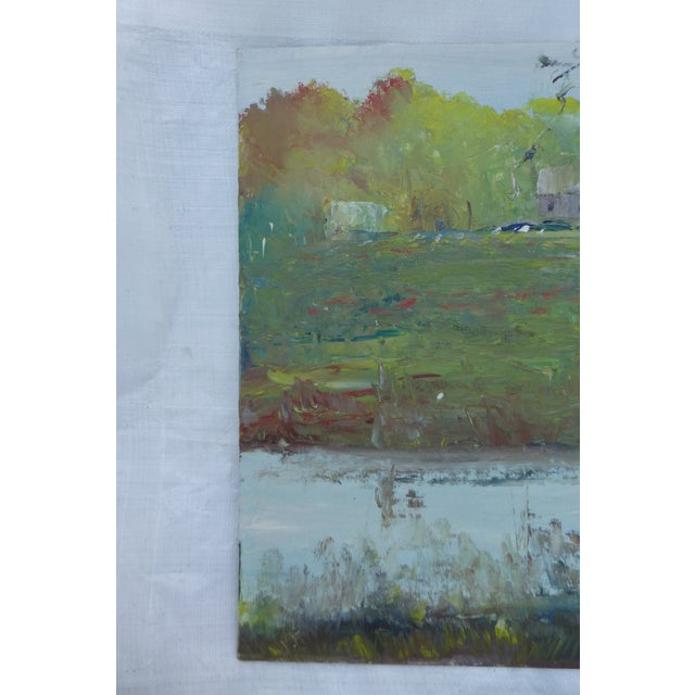 Abstract H.l. Musgrave Modernist Landscape Oil Painting For Sale - Image 3 of 6