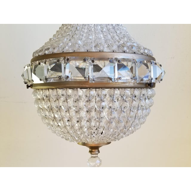 1920s Antique French Empire Style Crystal Chandelier For Sale - Image 5 of 10