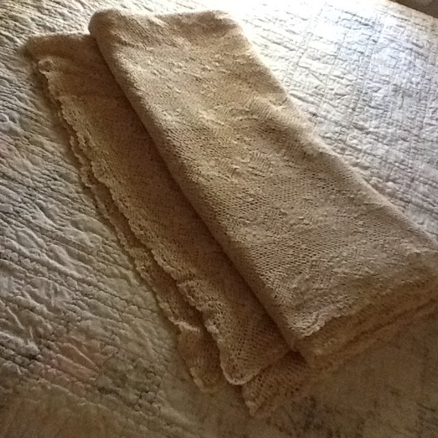 Vintage Boho Crocheted Coverlet or Tablecloth - Image 4 of 11