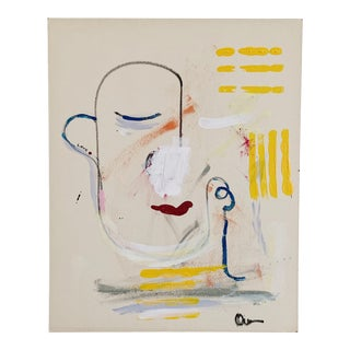 """""""Love Me"""" Contemporary Abstract Acrylic Painting by Gladys Tay For Sale"""