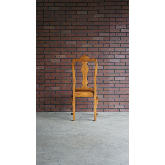 Brown Early 20th Century Antique French Provincial Carved Chair For Sale - Image 8 of 10