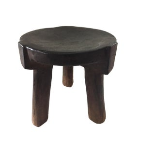 """Old Carved Wood Stool Hehe Gogo People Tanzania African 10"""" H For Sale"""