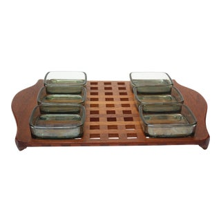 1960s Jens Quistgaard Dansk Teak Serving Tray With Inserts For Sale