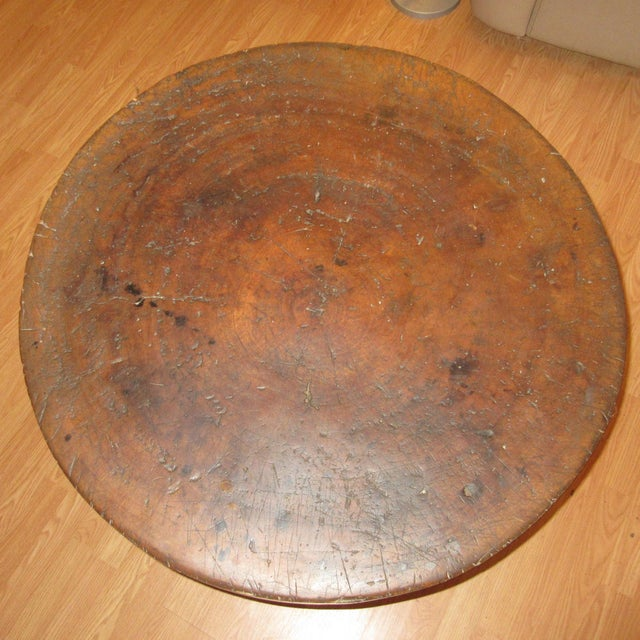 Early 19th Century Butcher Block Table Early 19th Century American For Sale - Image 5 of 6