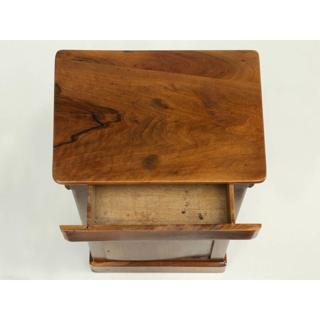 3102051a09 French Antique French Louis Philippe Walnut Nightstand For Sale - Image 3  of 9