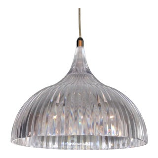 Vintage Modern Lucite Dome Pendant Light For Sale