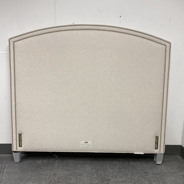 Modern Queen Size Lee Industries Arch Headboard For Sale - Image 3 of 13
