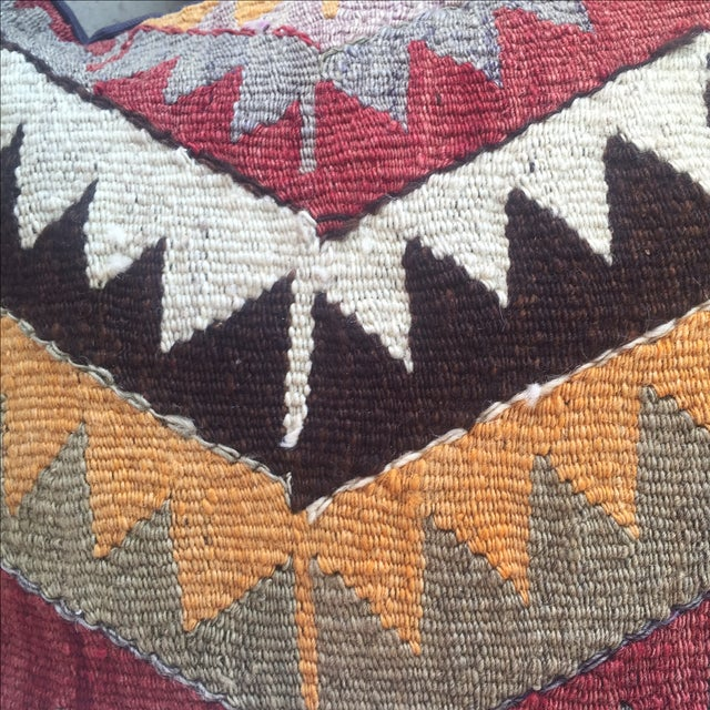 Boho Chic Vintage Turkish Kilim Pillow Cover For Sale - Image 3 of 4