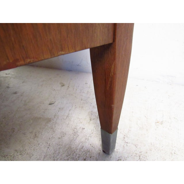 Mid-Century Walnut Dresser With Chrome Accenting by Sligh Furniture For Sale - Image 10 of 13