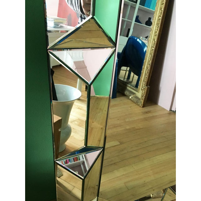 Glass Geometric Cut Surround Octagonal Mirror For Sale - Image 7 of 11