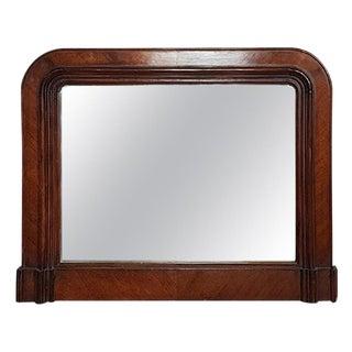 19th Century Italian Walnut Wall Mirror, 1850s For Sale