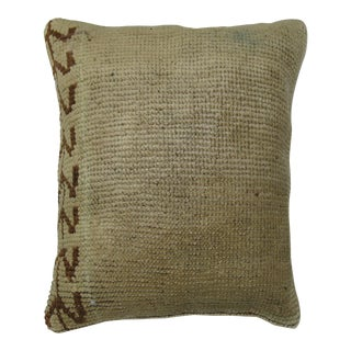 Neutral Turkish Oushak Rug Pillow For Sale