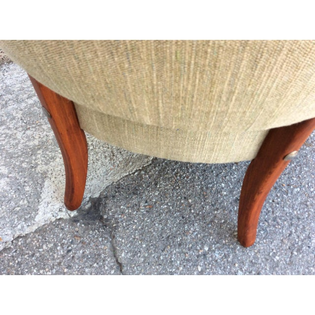 1950s Mid-Century Slipper Chairs- A Pair For Sale - Image 5 of 7