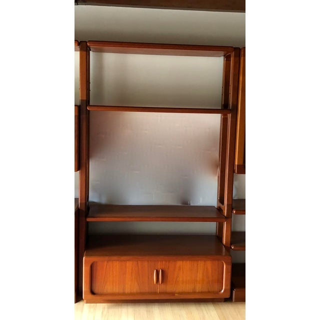 Glass Mid-Century Dyrlund Danish Solid Teak Wall Cabinet For Sale - Image 7 of 13