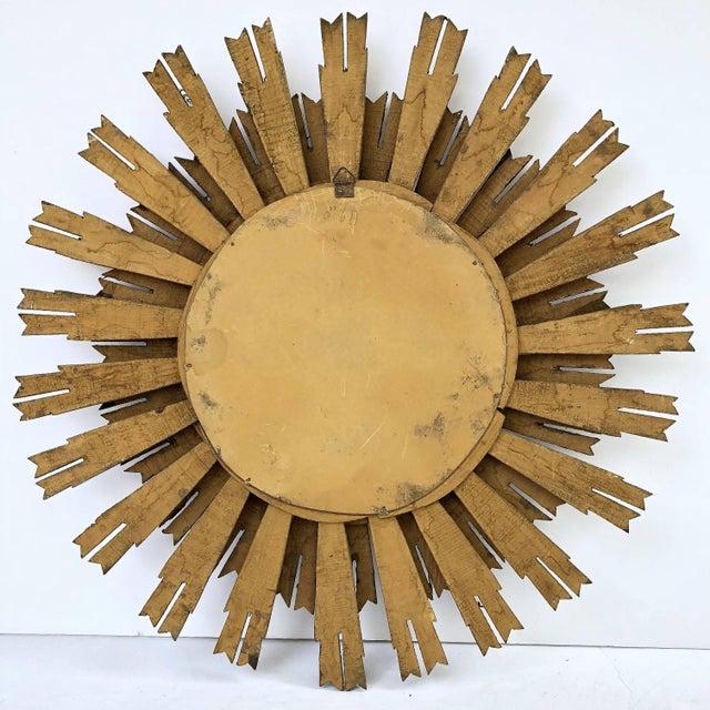 Gold French Gilt Starburst or Sunburst Mirror (Diameter 25) For Sale - Image 8 of 9