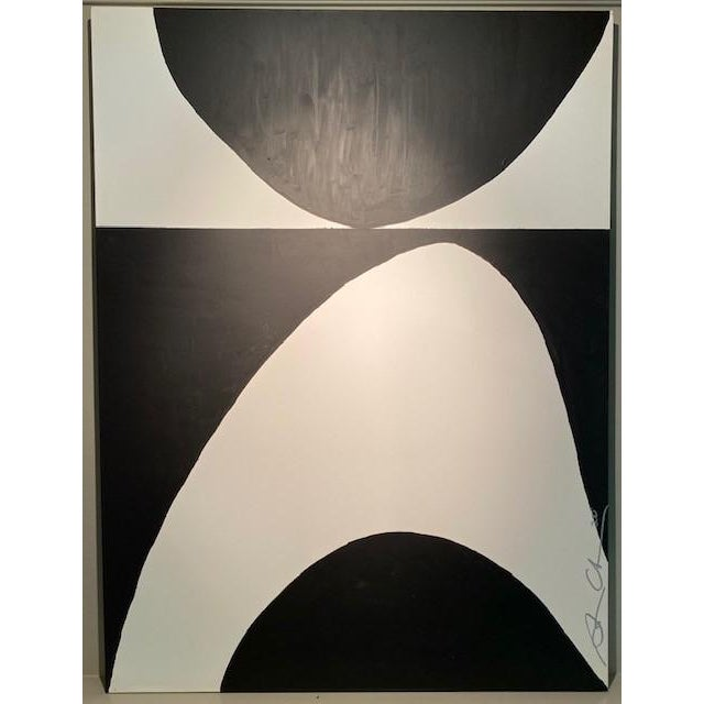 Early 21st Century Black & White Original Contemporary Painting For Sale - Image 5 of 5