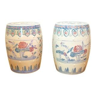 Antique Asian Garden Stools-A Pair For Sale
