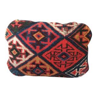 Antique Caucasian Rug Goose Down Pillow For Sale