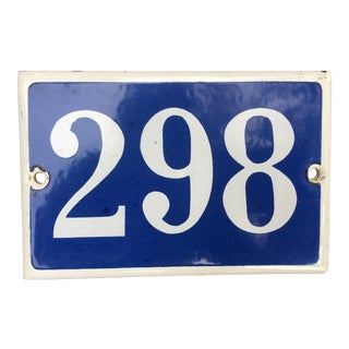 Vintage Parisian Number Street Sign