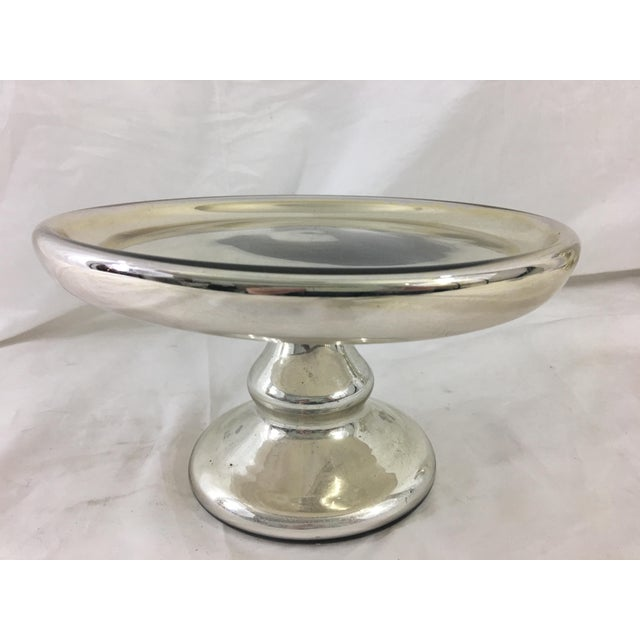 19th Century Mercury Glass Cake Stand For Sale - Image 4 of 8