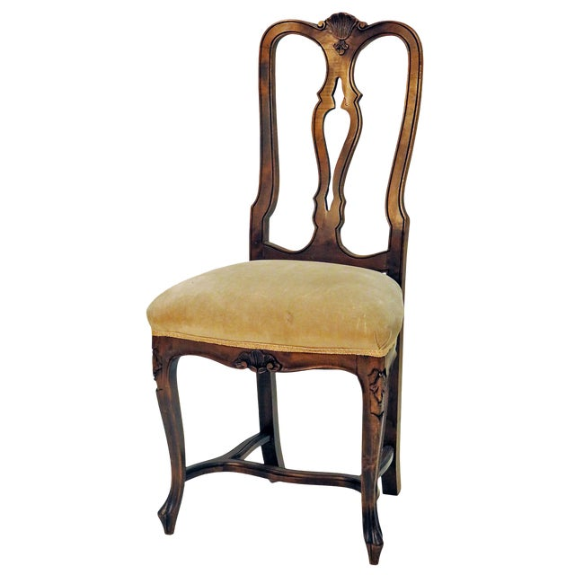 Mid 19th Century French Carved Side Chair For Sale
