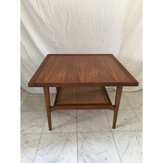 "1960s Drexel ""Declaration"" Wood & Cane Side Table Preview"