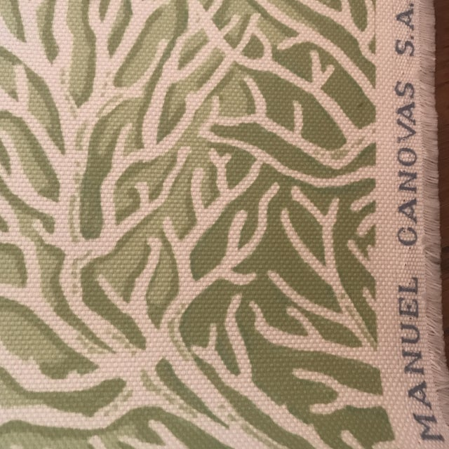 Coral Manuel Canovas Indoor / Outdoor Patmos Fabric - 3 1/2 Yards For Sale - Image 7 of 8