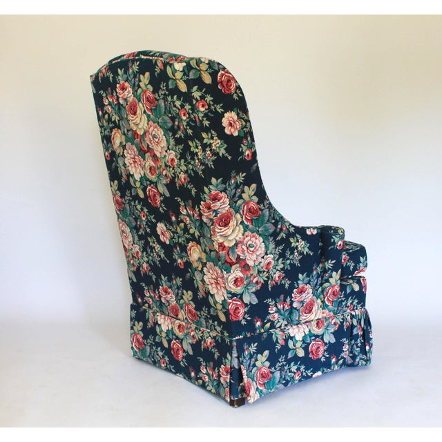 High Back Wing Chair For Sale - Image 10 of 12