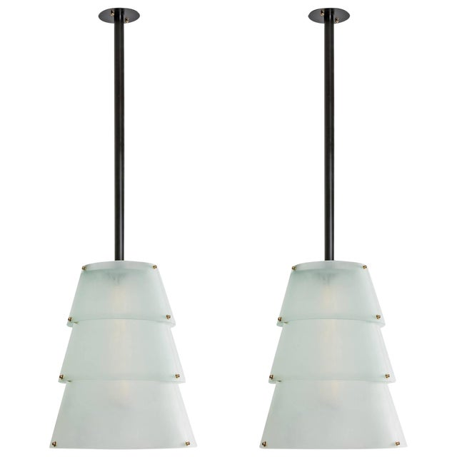 French Modernist Lucite Lanterns- A Pair - Image 1 of 10