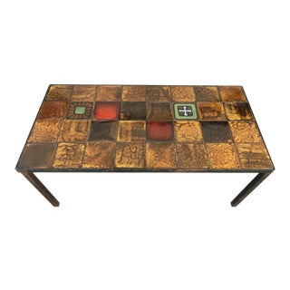 Mid Century French Vallauris Tile Table For Sale