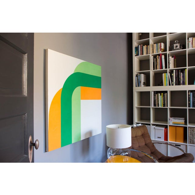 """""""Right Angle"""" bold vintage 1970s supergraphic print. Simple, yet impactful. And large-scale. Gallery Wrap framed: The..."""