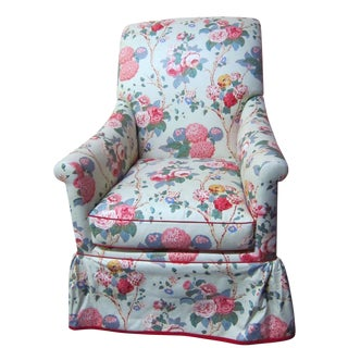 Jean Monro Chintz Upholstered Skirted Armchair