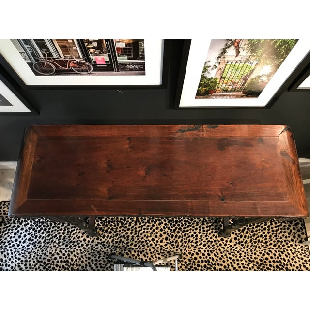 Antique Asian Hand Carved Console For Sale In Detroit - Image 6 of 9