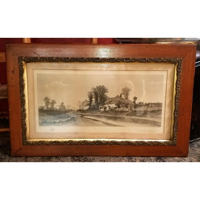 19c New York Signed Etching by Ernest Christian Rost 1891 For Sale - Image 9 of 9