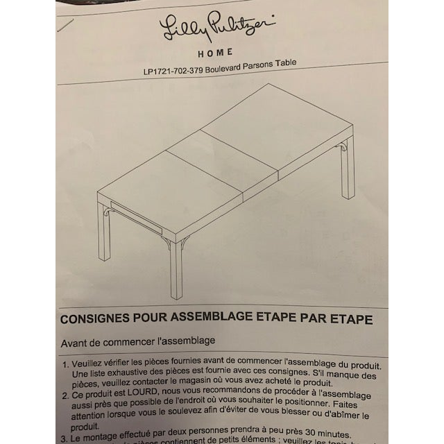 Boulevard Parsons Table by Lilly Pulitzer For Sale - Image 10 of 13