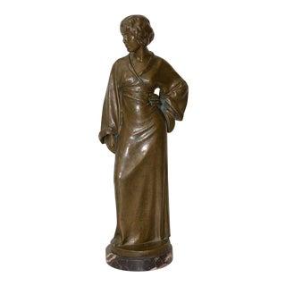 Arnold Katsch (German 1861-1928) Art Nouveau Bronze C.1912 For Sale