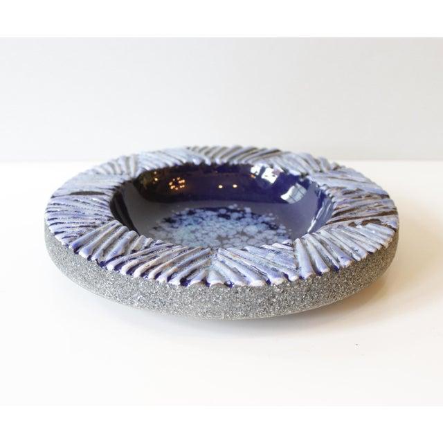 Nittsjo Sweden Blue Ceramic Pottery Bowl - Image 3 of 5