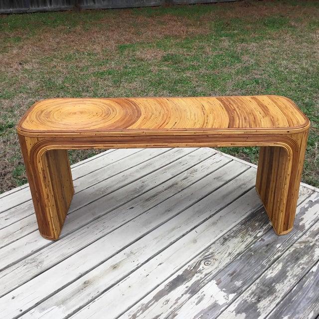 Gabriella Crespi Pencil Reed Console Table For Sale In Dallas - Image 6 of 6