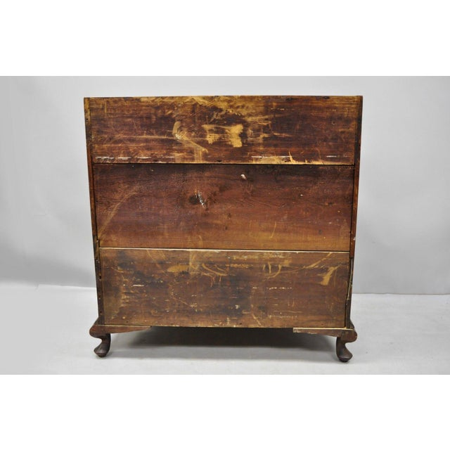 19th Century Chippendale Mahogany Slant Top Carved Ball & Claw Secretary Desk For Sale - Image 9 of 13