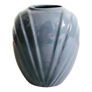 Vintage 1980sModern Mauve Embossed Vase For Sale