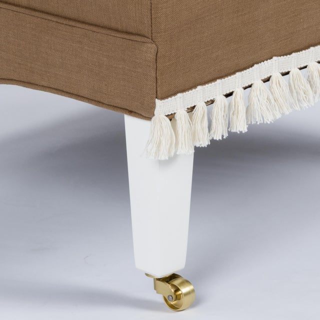 Not Yet Made - Made To Order Casa Cosima Sintra Chair in Hazel Linen For Sale - Image 5 of 9