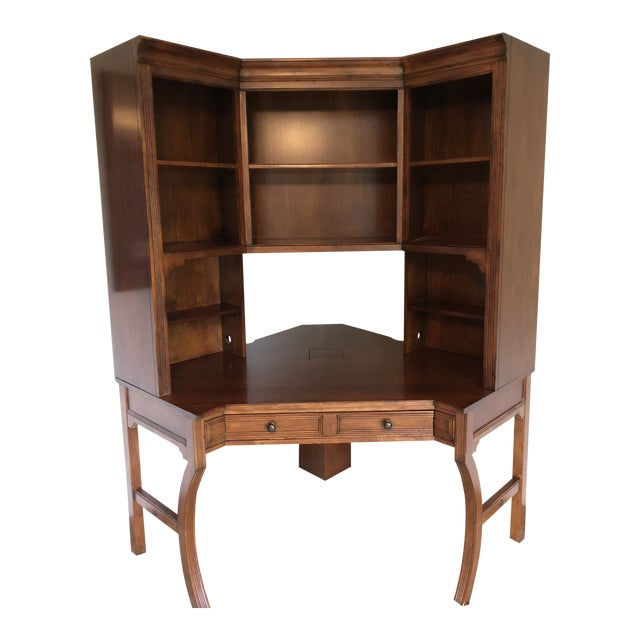 Vintage Sligh-Lowry Furniture Co. Corner Desk Unit For Sale