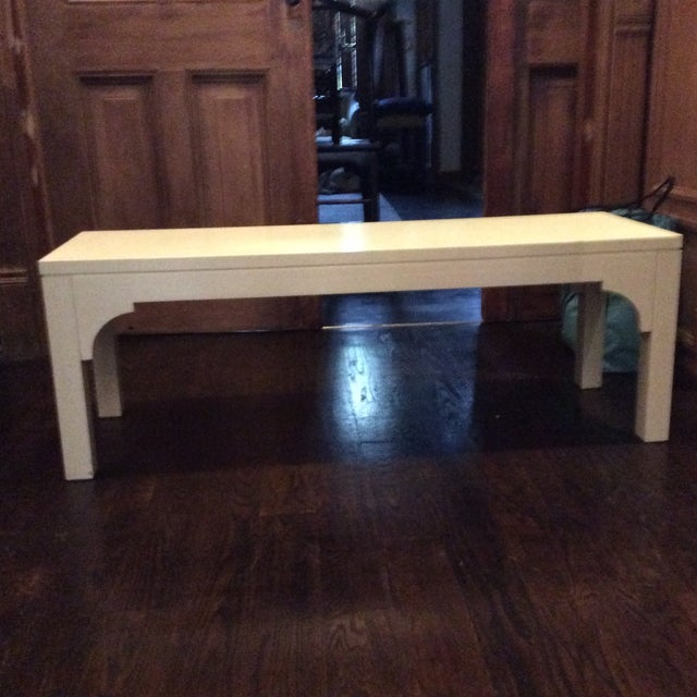 Restoration Hardware White Bench - Image 2 of 8