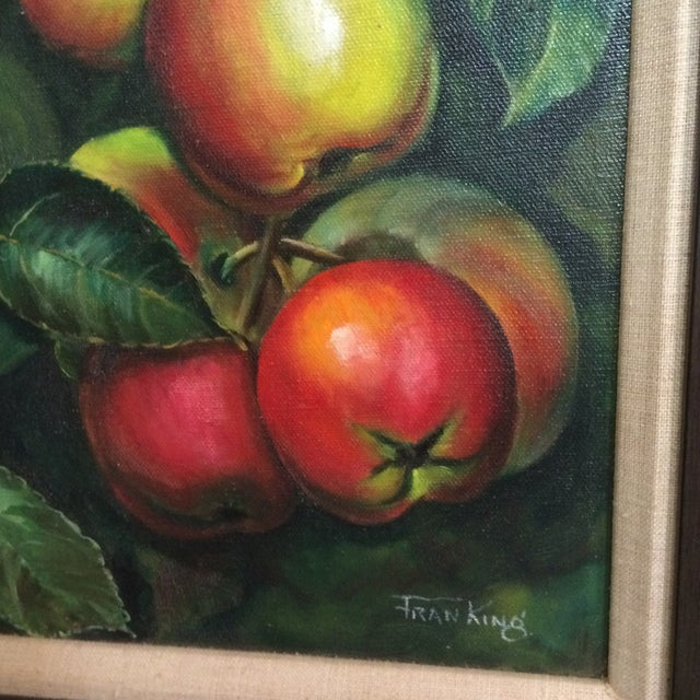 Three Vintage Still Life Oil & Acrylic Framed Paintings by Sacramento Artist Fran King - Group of 3 For Sale In Sacramento - Image 6 of 13