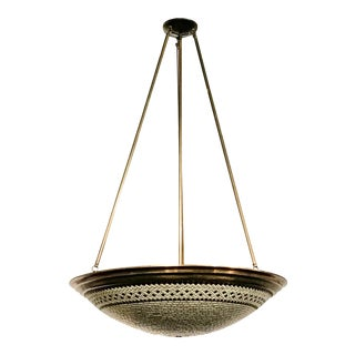 Woven Dome Contemporary and Transitional Hilliard Chandelier For Sale