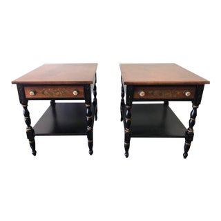 Early American Lambert Hitchcock Side Tables - a Pair For Sale